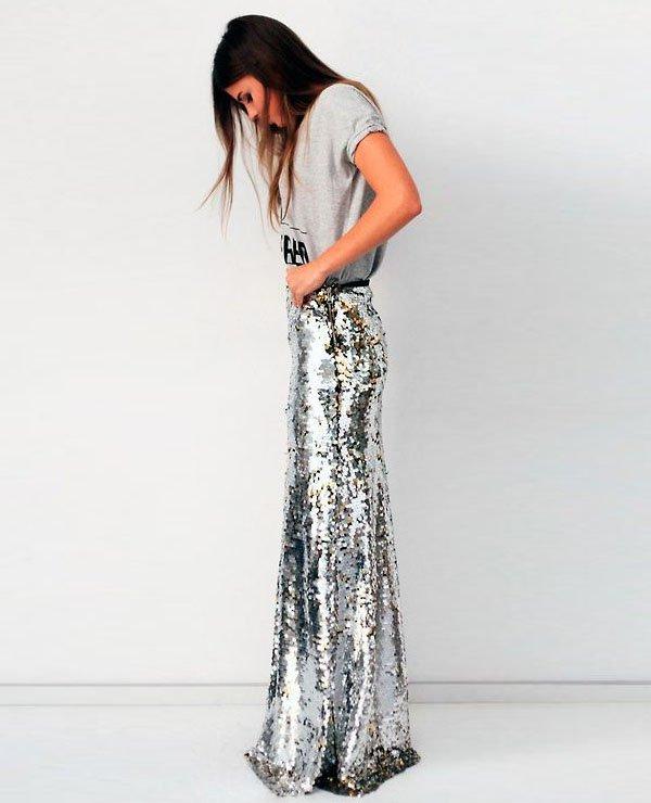 sequin-skirt-t-shirt