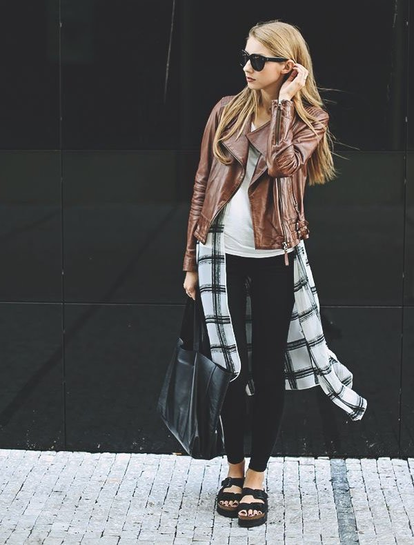 Street-style-plaid-shirt-jacket