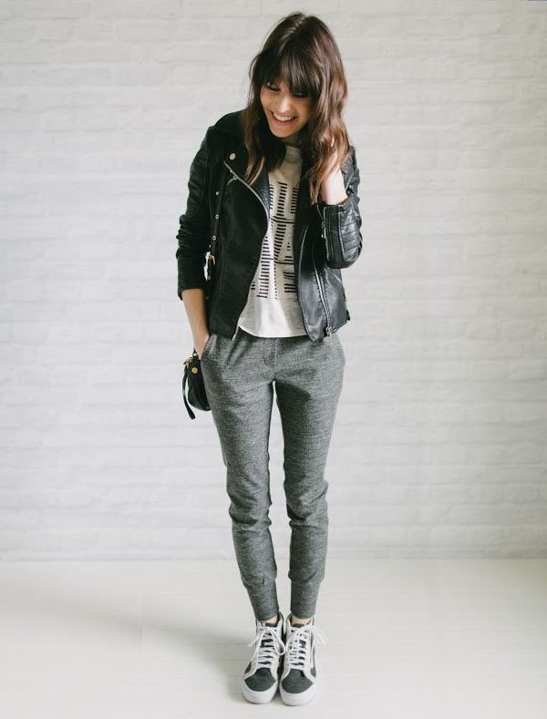 sweatpants-comfy-style-leather-jacket