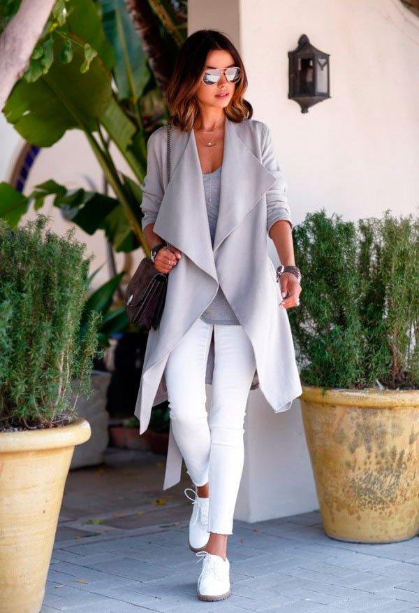 look casaco cinza