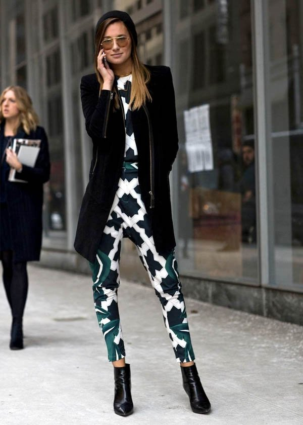 printed-jumpsuit-street-style-coat-boots