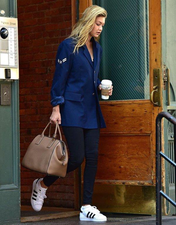 gigi-hadid-adidas-originals-street-style-blue-blazer