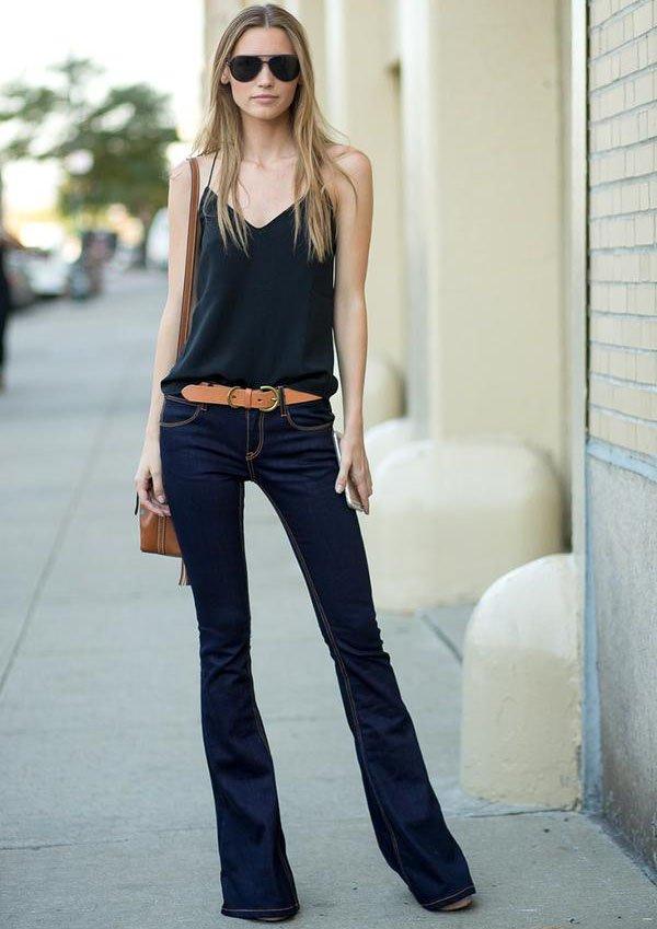 look-calca-jeans-flare-regatinha-preta