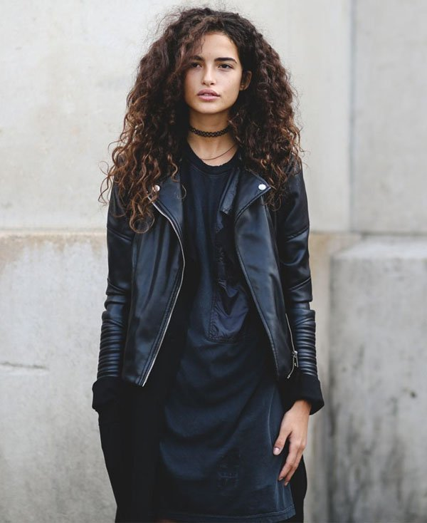 look-street-style-jaqueta-couro-vestido