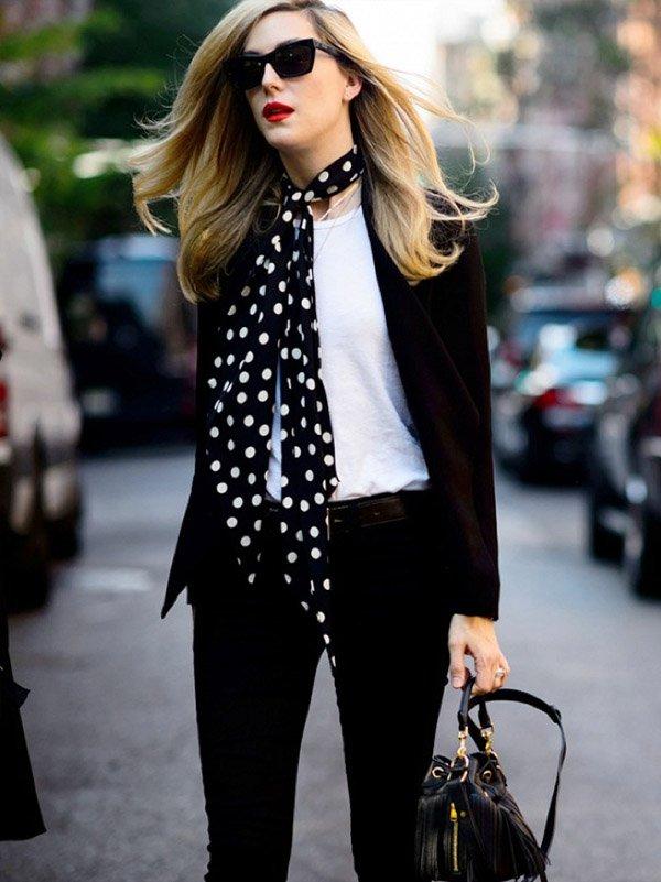street style lenço calça casual look
