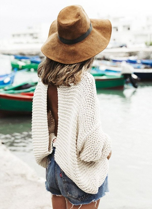 Shorts Jeans Tricot