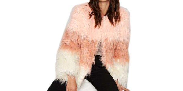 casaco de faux fur nasty gal cor rosa