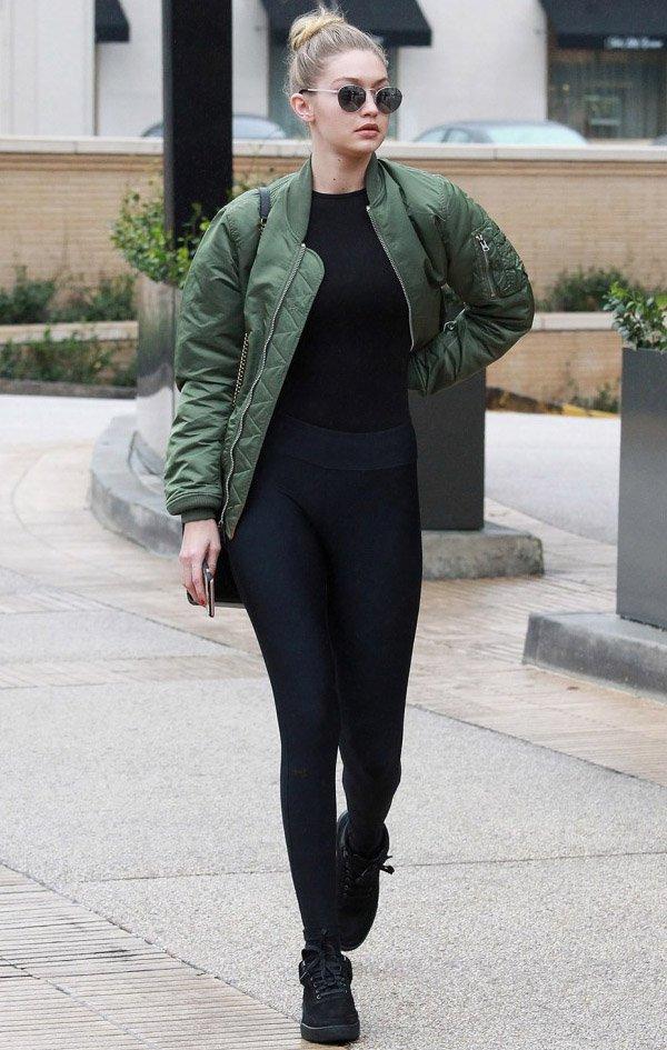 Gigi Hadid Street Style Bomber Jacket