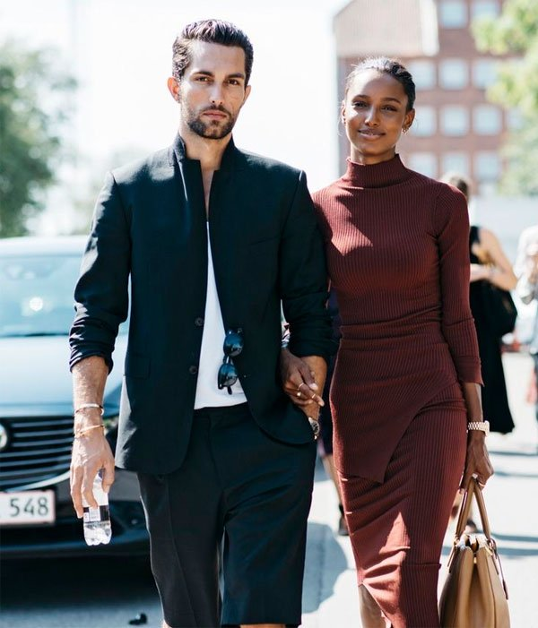 jasmine tookes look total burgundy tobias sorensen look total black