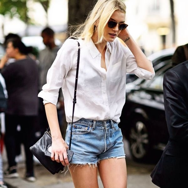 look camisa short jeans street style