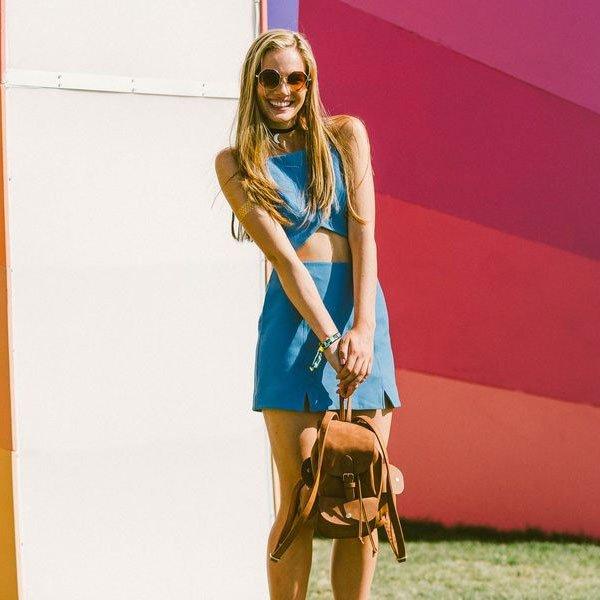 look festival blue dress
