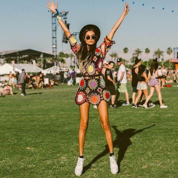 look festival vestido tricot