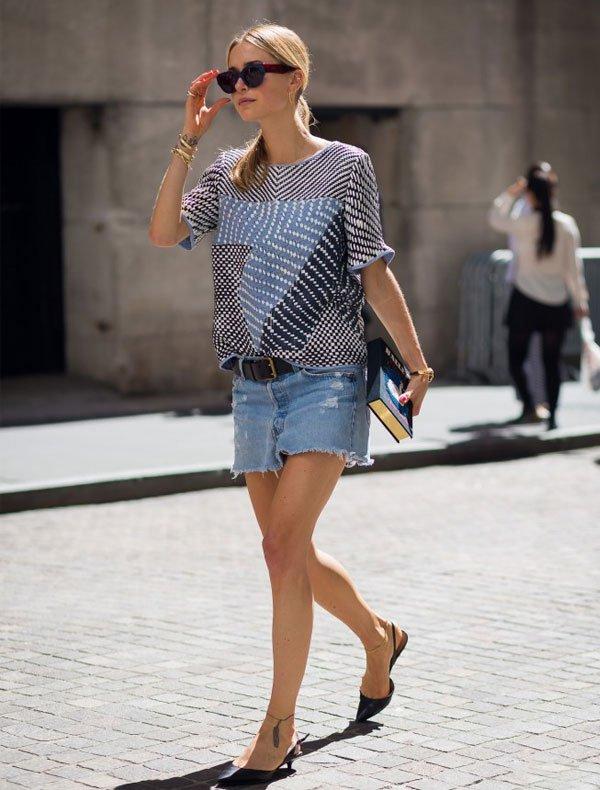 pernille teisbaek look shorts jeans t-shirt listras
