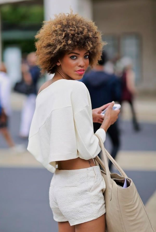 All White Cropped Curls