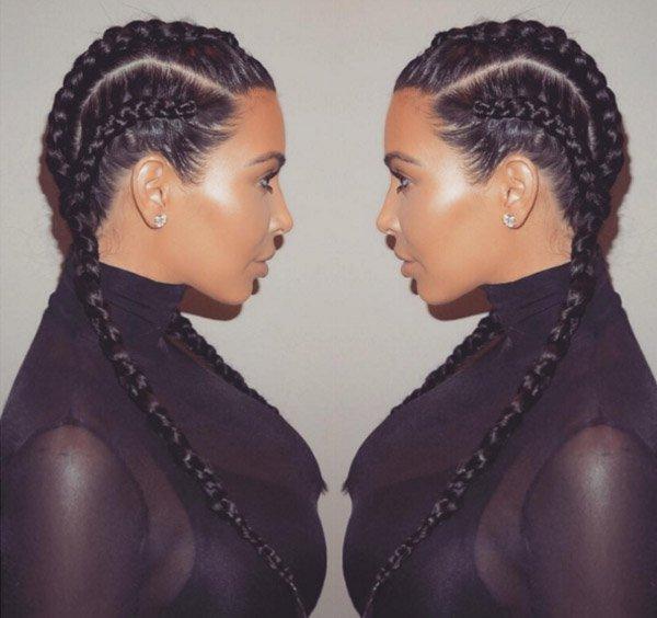 Kim Kardashian Trança Imbutida Dupla