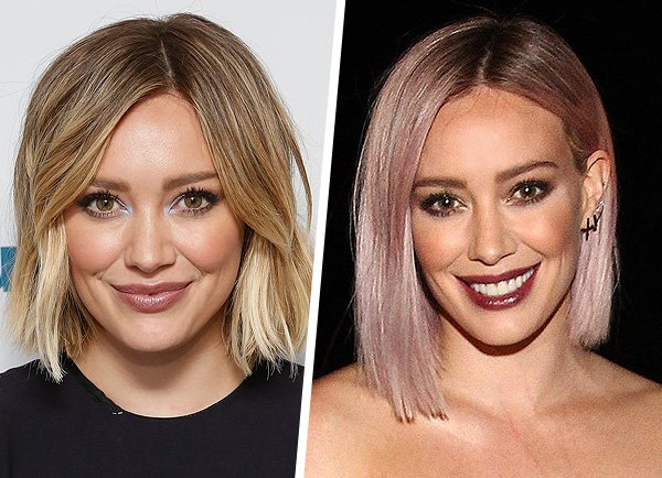 Hilary Duff Pink Hair Style