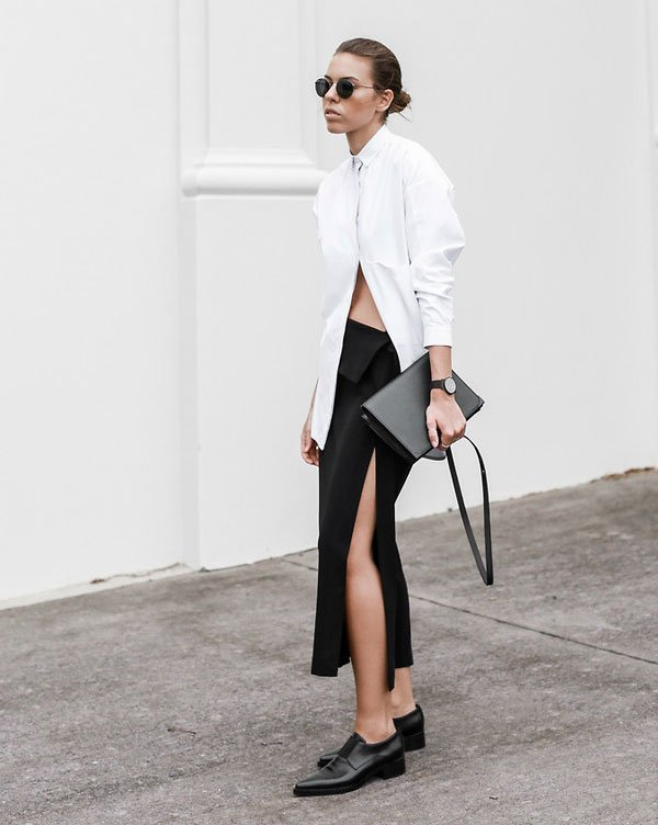 look black and white street style