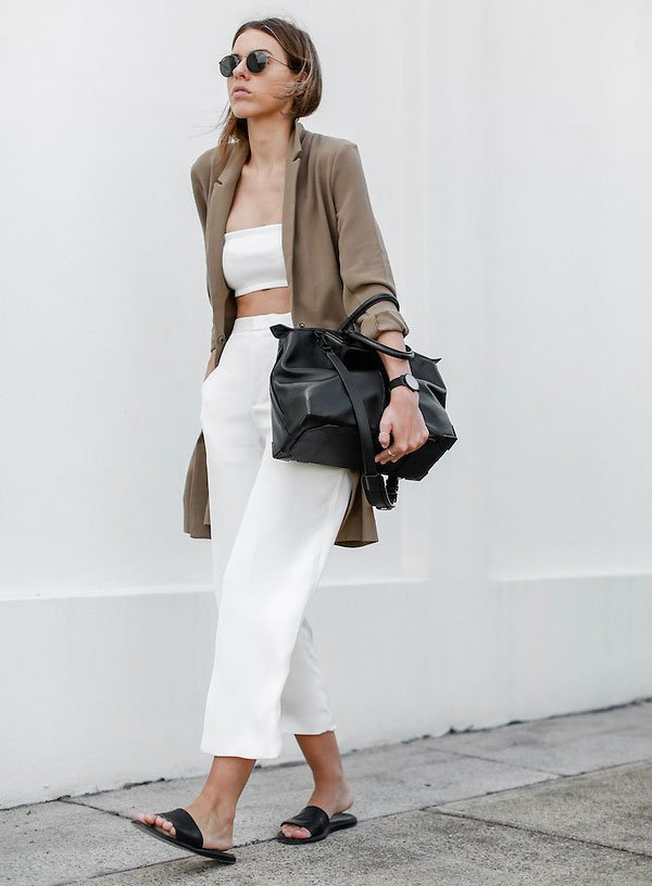 look total white street style
