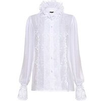 Camisa Branca Gola Laço