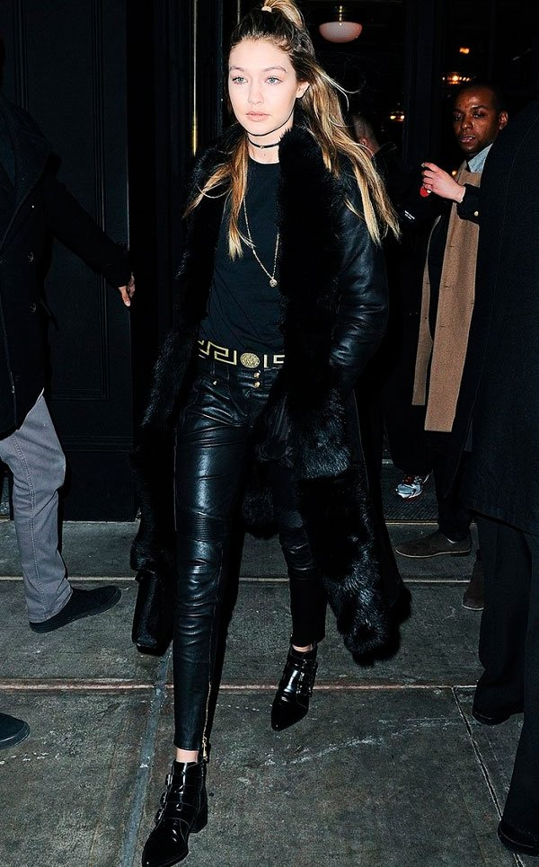 gigi hadid look all black