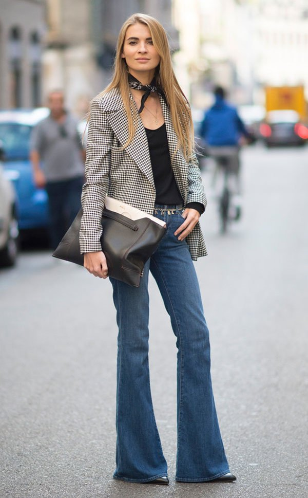 jeans com blazer street style