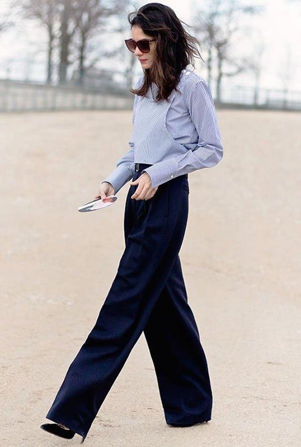 Leila Yavari camisa calça scarpin