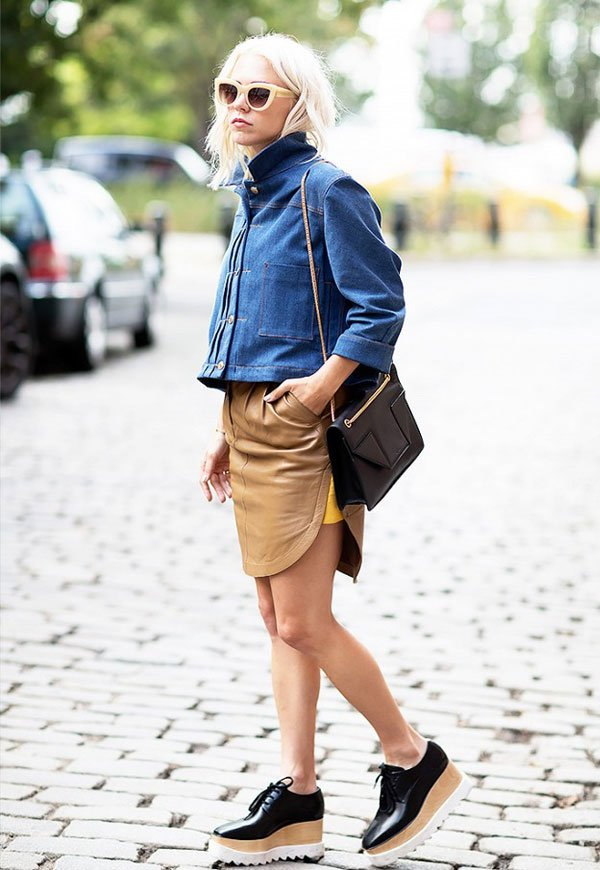 look denim jacket shoes stella mccartney