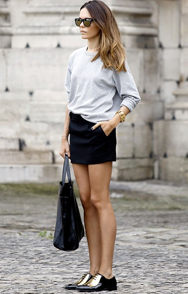 look metalic oxford street style