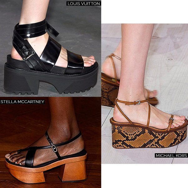 Stella McCartney, Louis Vuitton e Michael Kors Flatform Trend