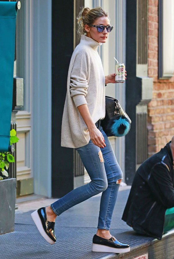 olivia palermo slip-on platform sneakers