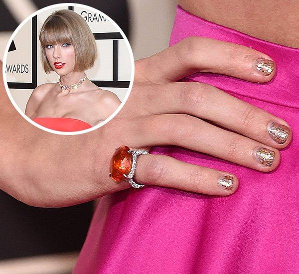 Taylor Swift Grammy 2016 Red Carpet Nails