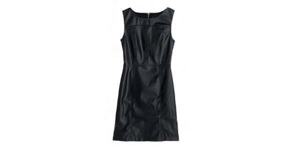vestido couro preto