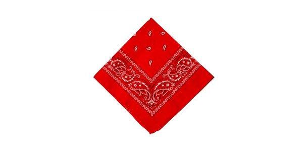 bandana fashfinds vermelha