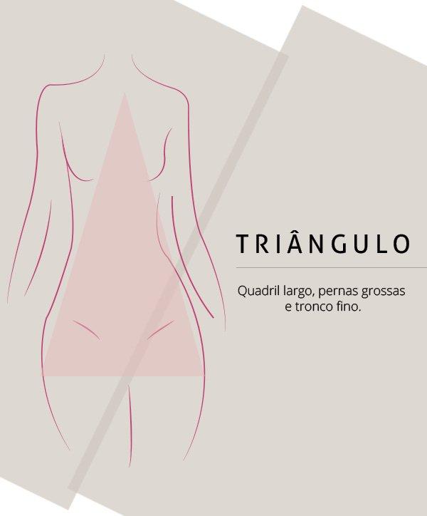 vestido para corpo triângulo
