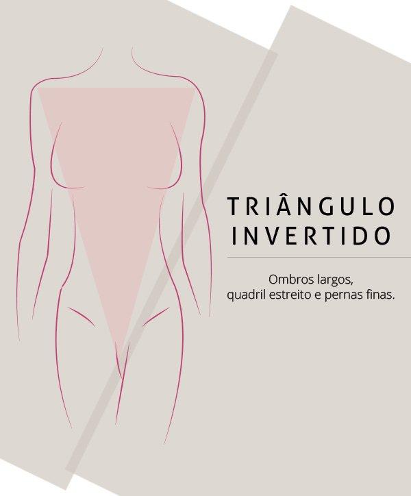 Roupa para corpo triângulo invertido