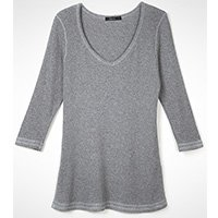Manga Comprida Cinza Camiseta