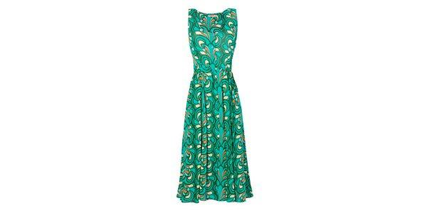 Vestido estampado verde
