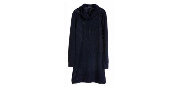 vestido tricot suéter marinho amaro