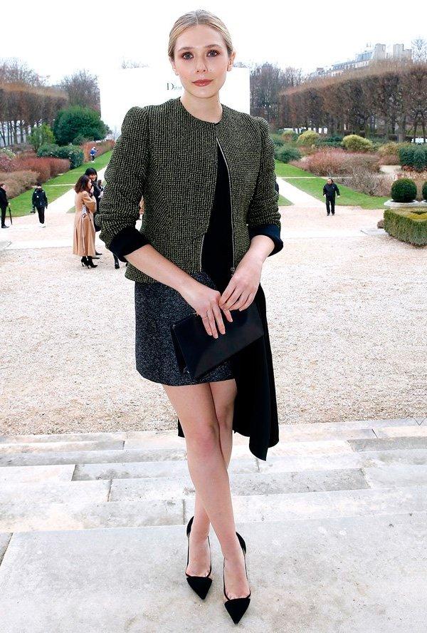 elizabeth olsen look clássico