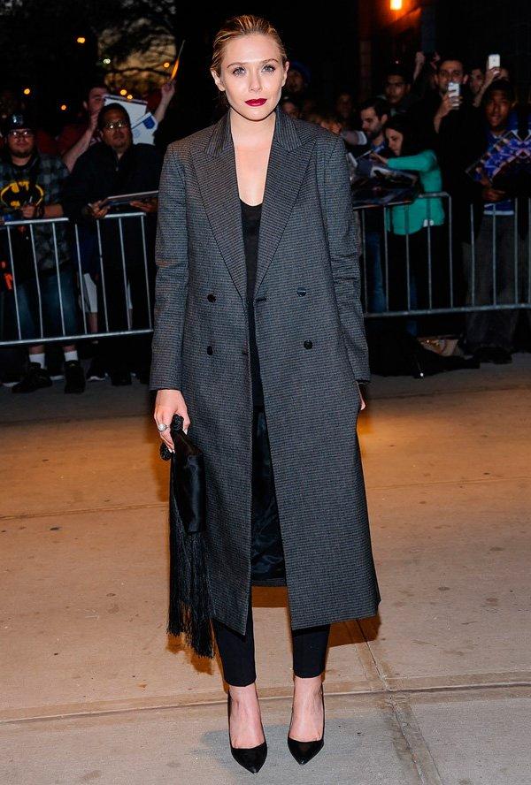 elizabeth olsen trench coat style