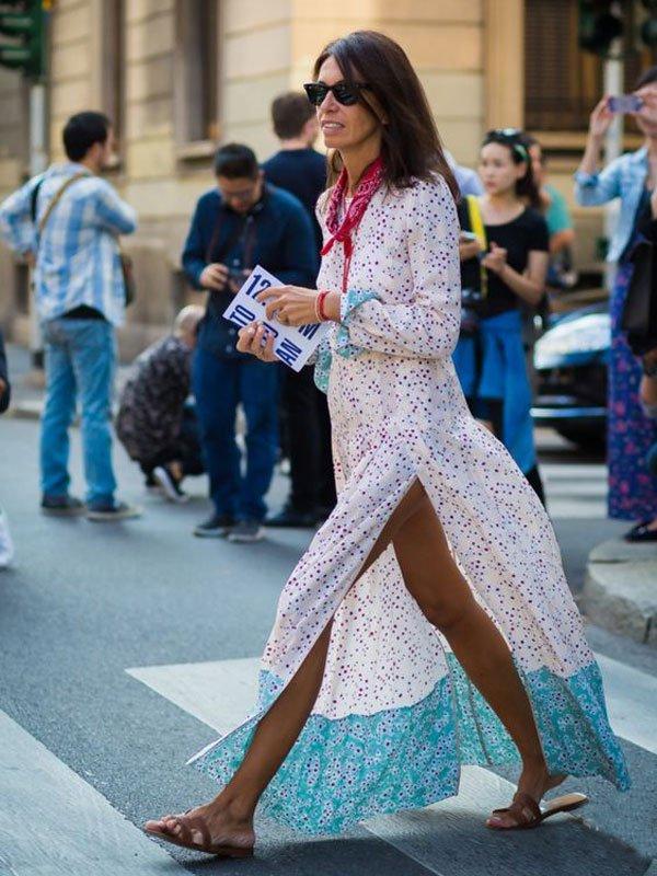 long dress styling tips bandana street style