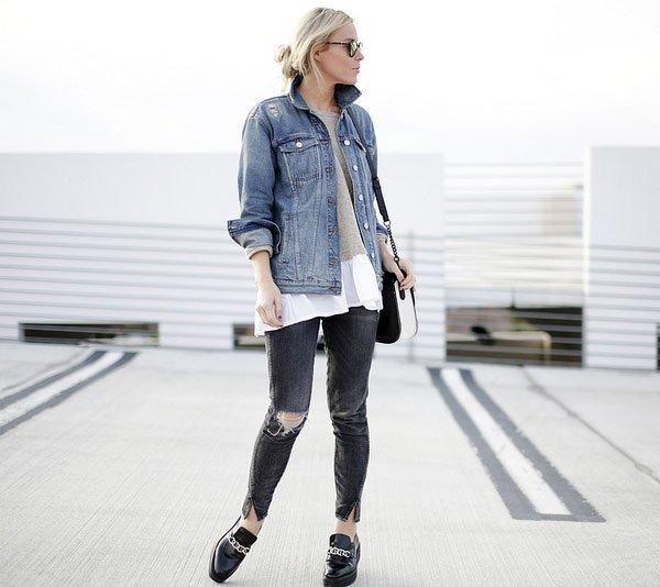 look destroyed jeans denim jacket
