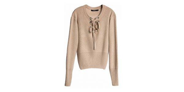 suéter amarração bege amaro