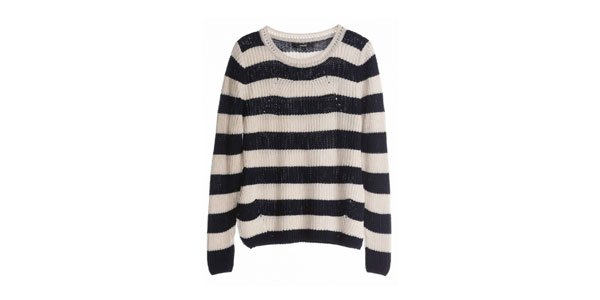 suéter tricot amaro listras