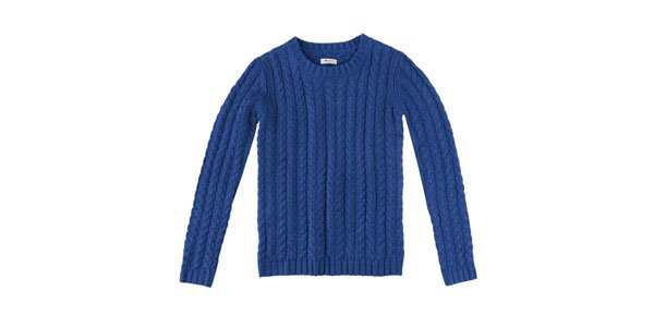 suéter tricot azul hering