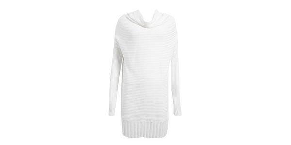 suéter tricot longo branco animale oqvestir