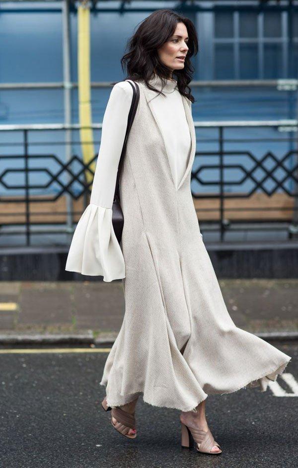 turtleneck white dress white street style