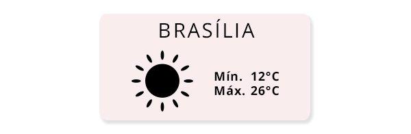 ideia look de acordo com o tempo de brasília