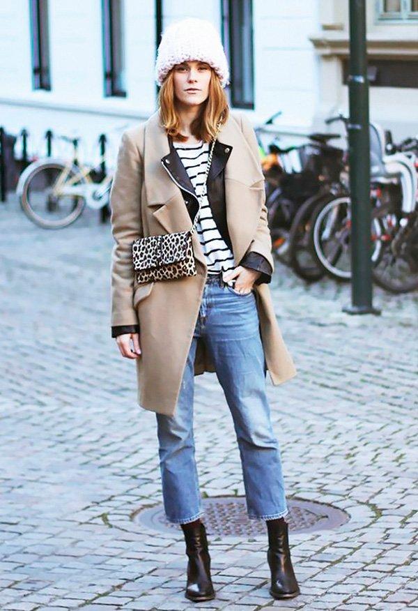 cropped jeans para usar o ano todo, inclusive no inverno!