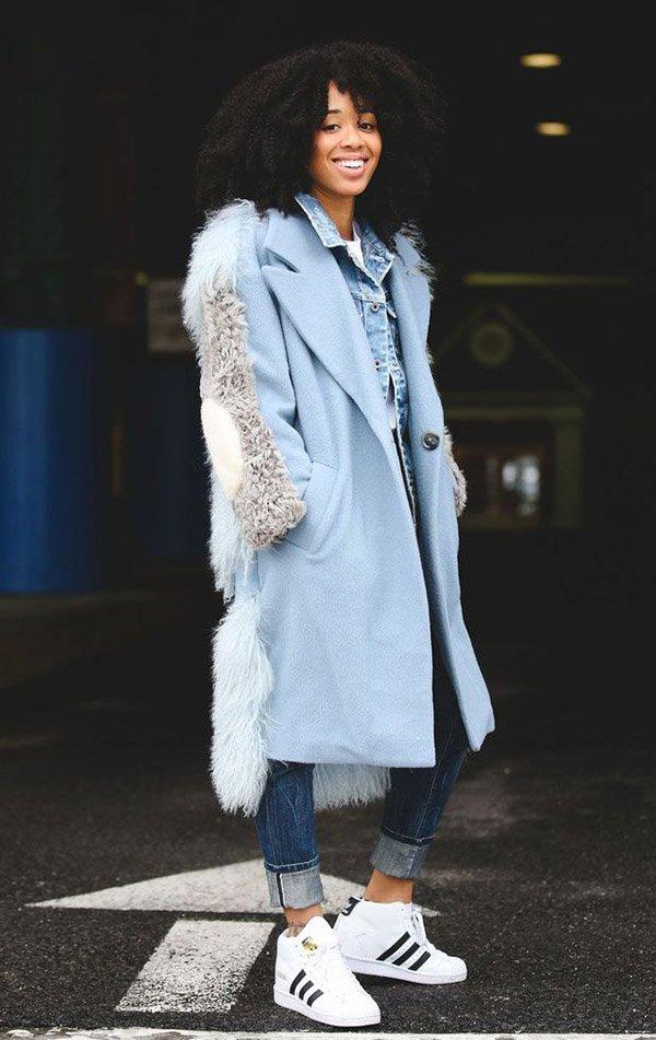 look casaco azul